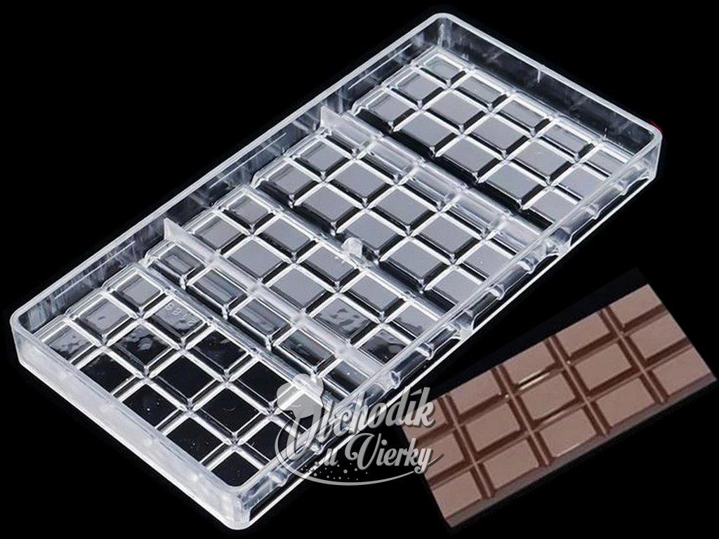 Polykarbonátová forma na čokoládu 27,5 x 13,5 cm 1