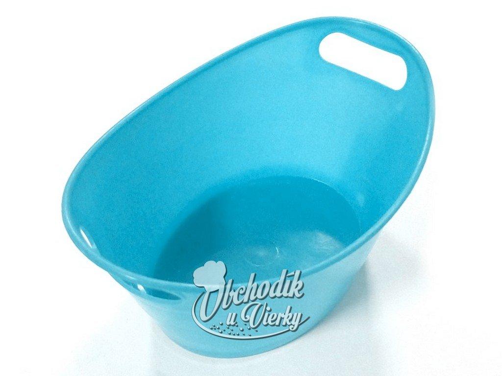 Oválna plastová nádobka modrá 15,5x10x6 cm