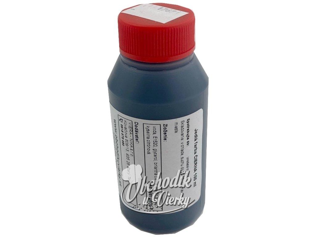 ČIERNA jedlá tekutá farba 100 ml HoHo
