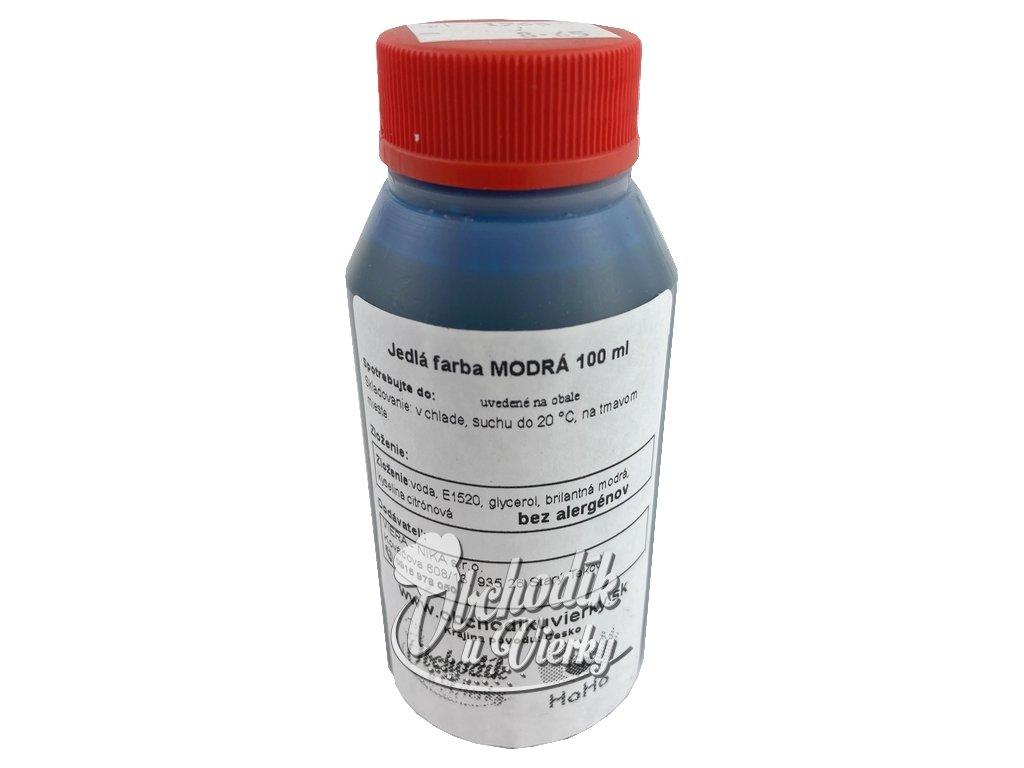 HOHO Jedlá farba modrá 100 ml