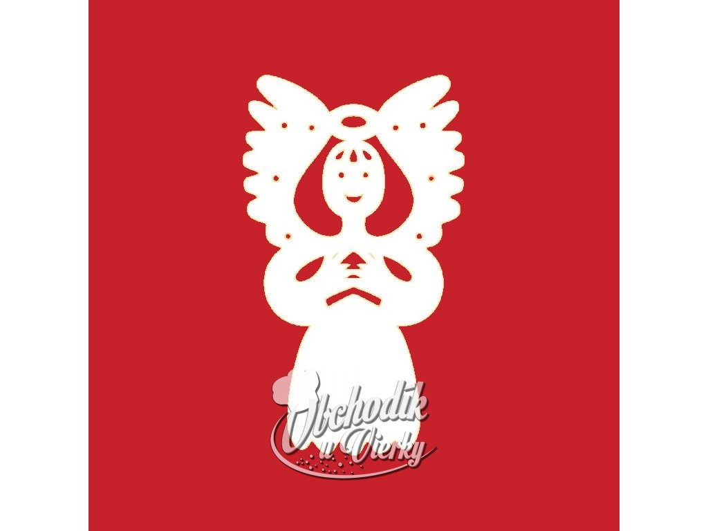Anjel dekorácia z jedlej oblátky 25 ks