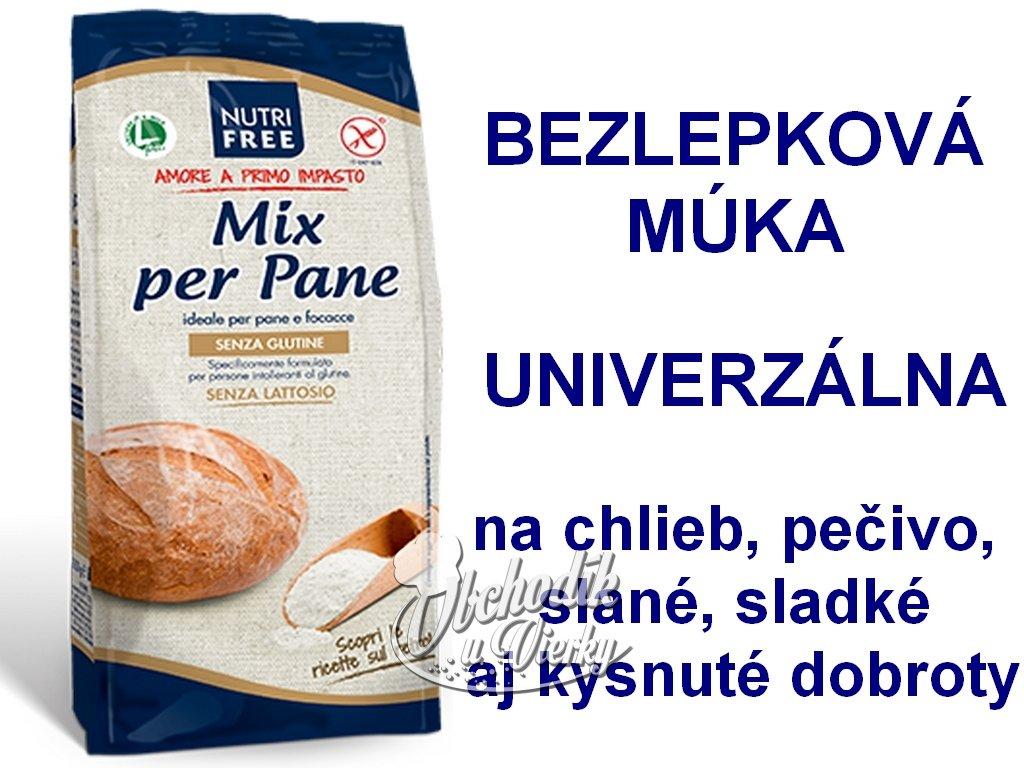 Bezlepková zmes na chlieb Mix per Pane NUTRI FREE 1kg
