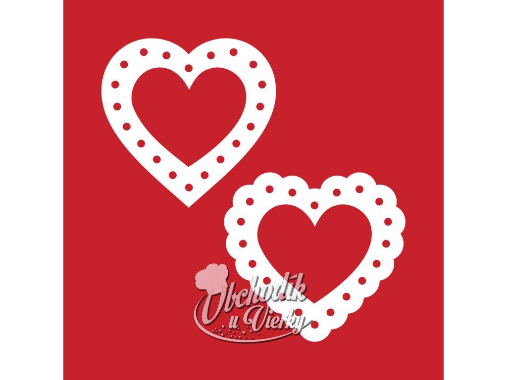 VV01 Krajka srdce MIX