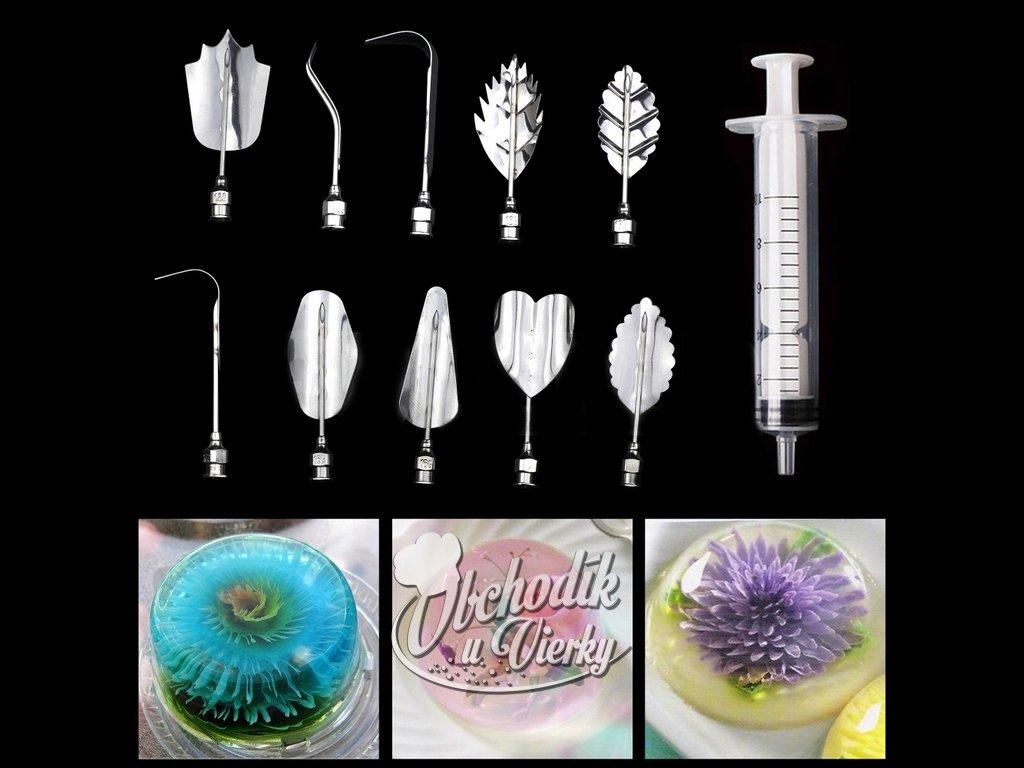 Sada na výrobu 3D kvetov zo želatíny (10+1 ks) H