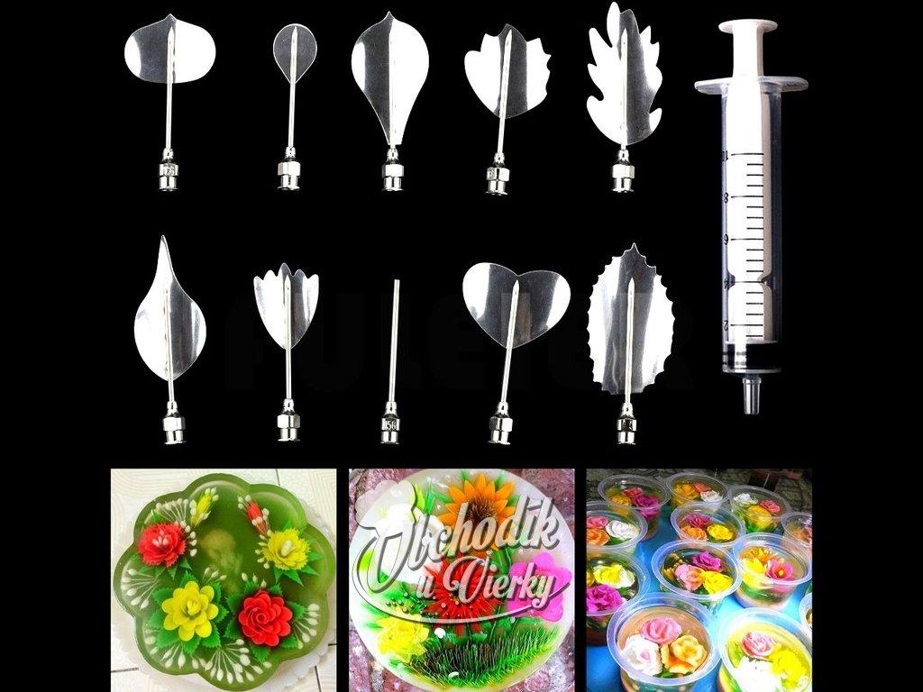 Sada na výrobu 3D kvetov zo želatíny (10+1 ks) L 1