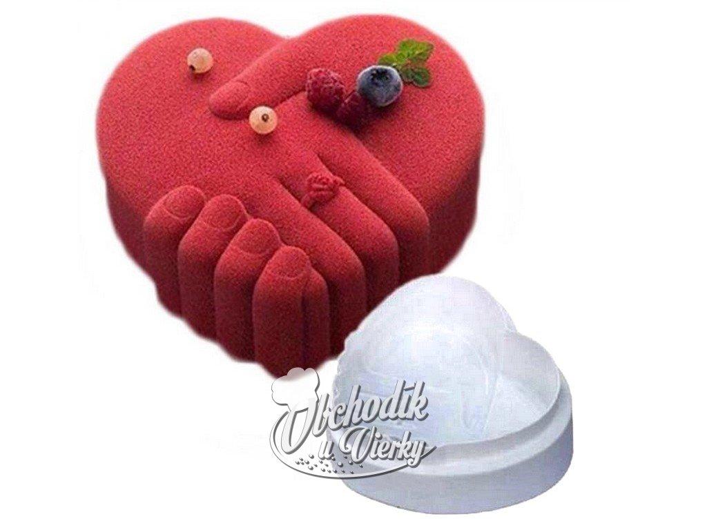 1954 Silikónová forma srdce držiace sa ruky