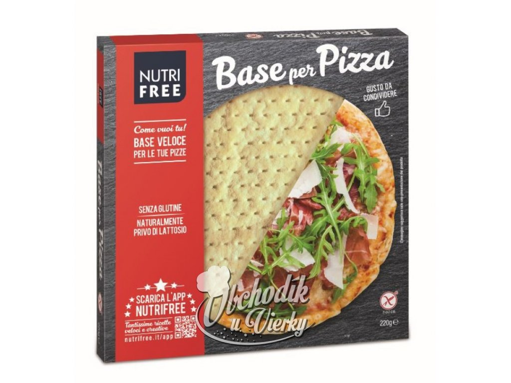 Bezlepkové pizzové cesto Base per PIZZA NUTRI FREE 200g