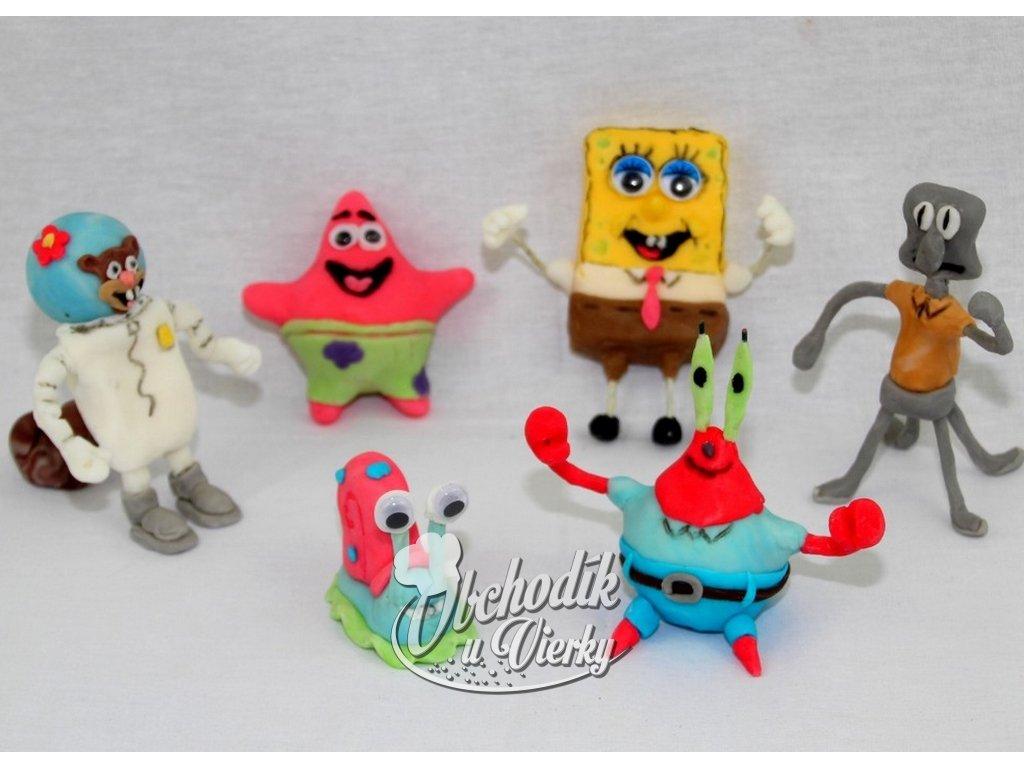 SpongeBob 6 ks modelované 9 11 cm postavičky