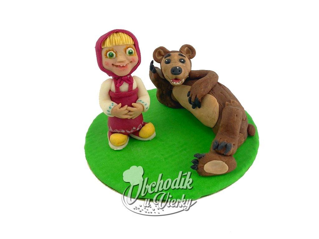 Máša a medveď modelovaná figúrka