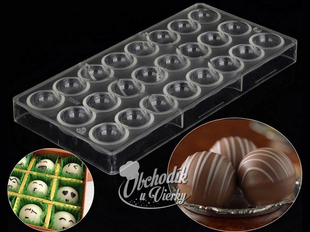 2117 Forma na čokoládové guličky plastová 2