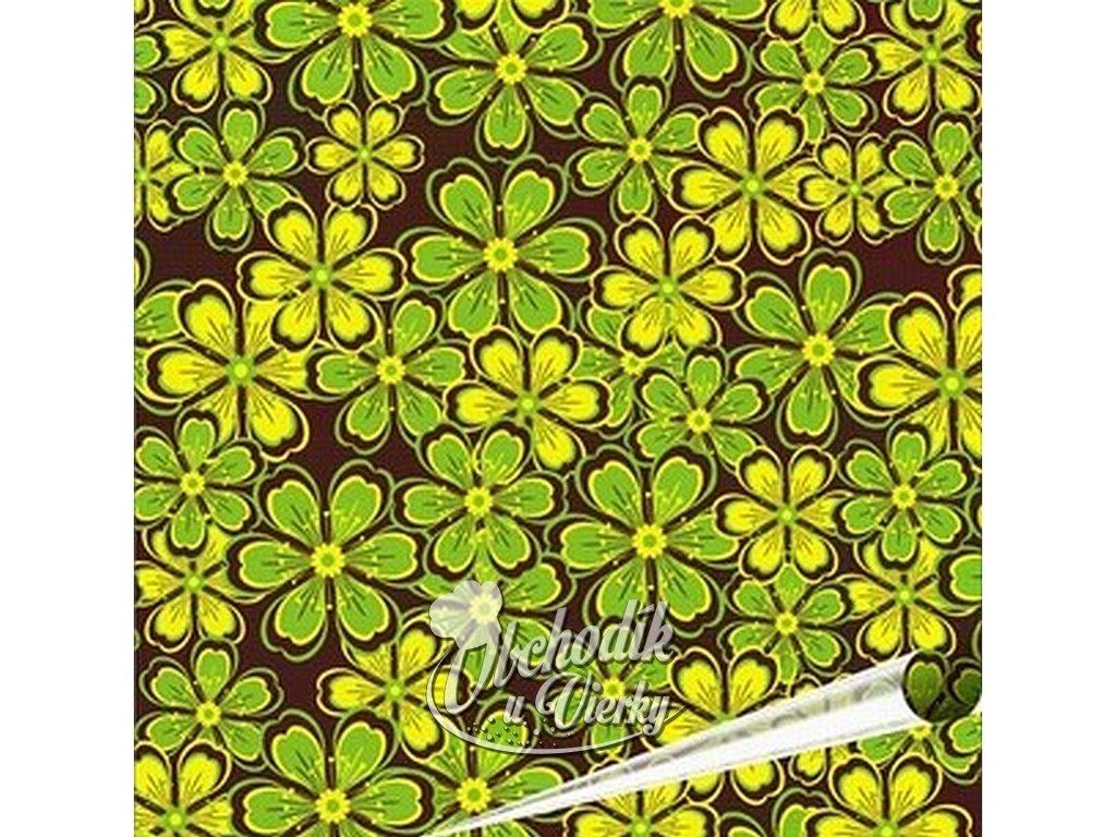 Chocotransfer kvietky zeleno žlté