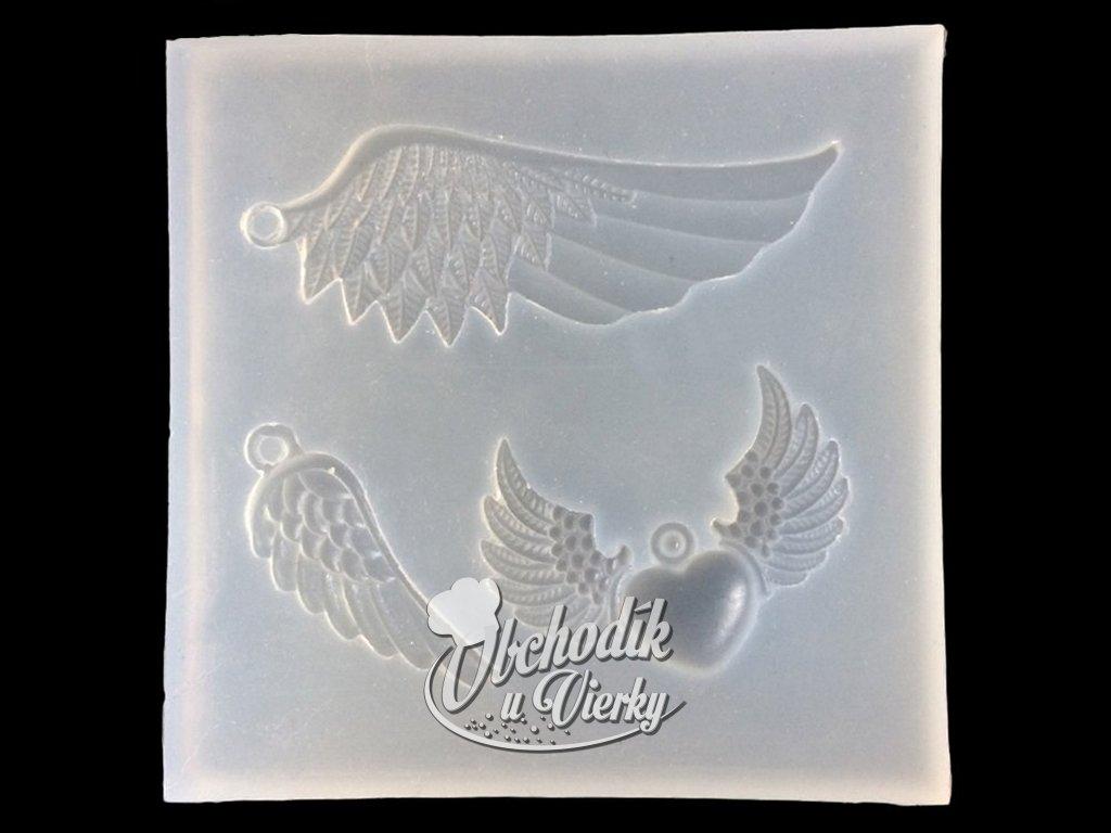Silikónová forma anjelské krídla priesvitná 1
