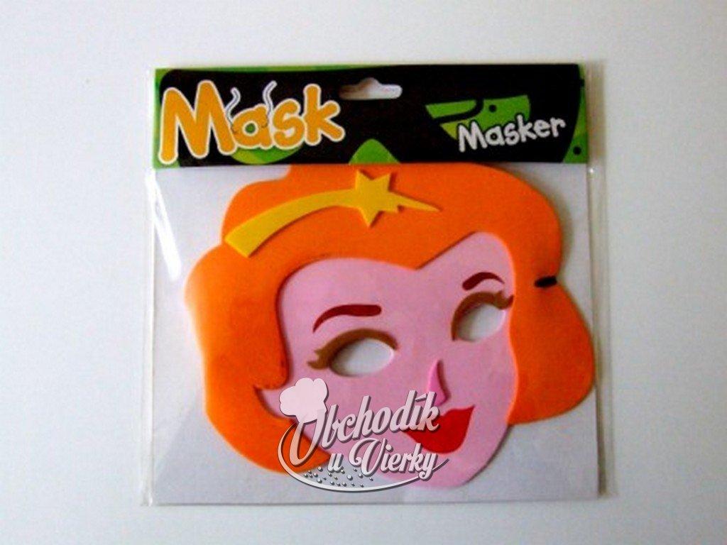 Maska princezná so zlatou hviezdou