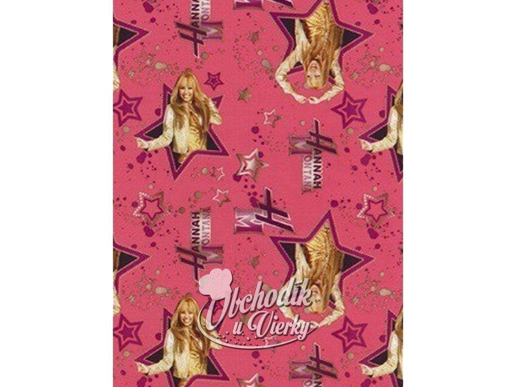 Darčekový baliaci papier Disney Hannah Montana ružový