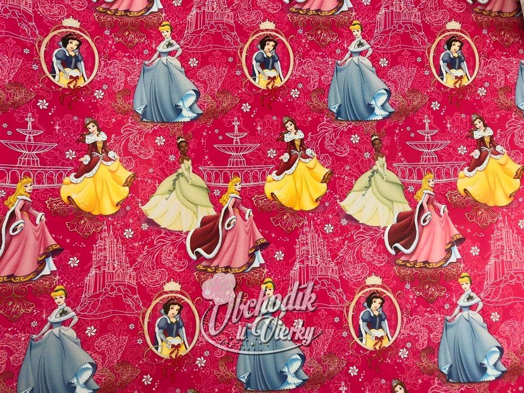 Darčekový baliaci papier Disney princezné (Vianočný motív)