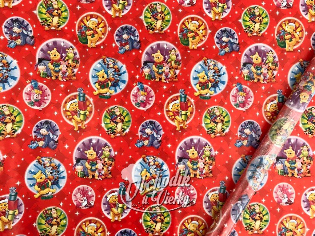 Darčekový baliaci papier Disney Macko Pú (Vianočný motív)