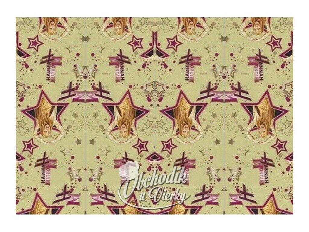 Darčekový baliaci papier Disney Hannah Montana modrofialový