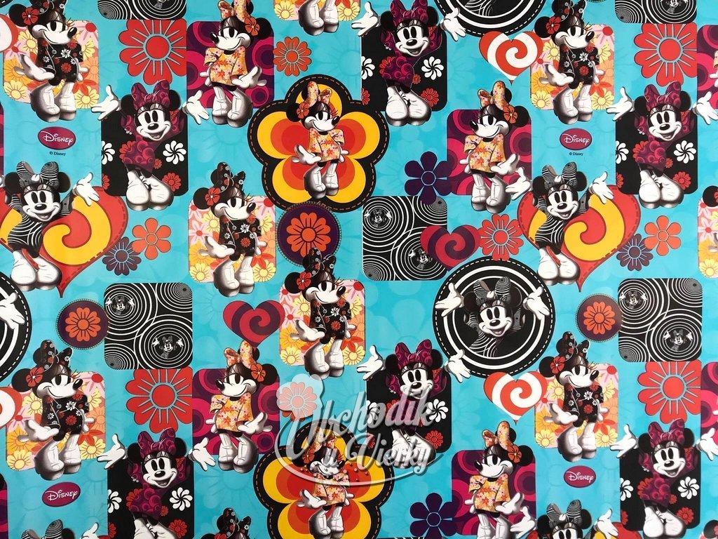 Darčekový baliaci papier Disney Minnie modrý