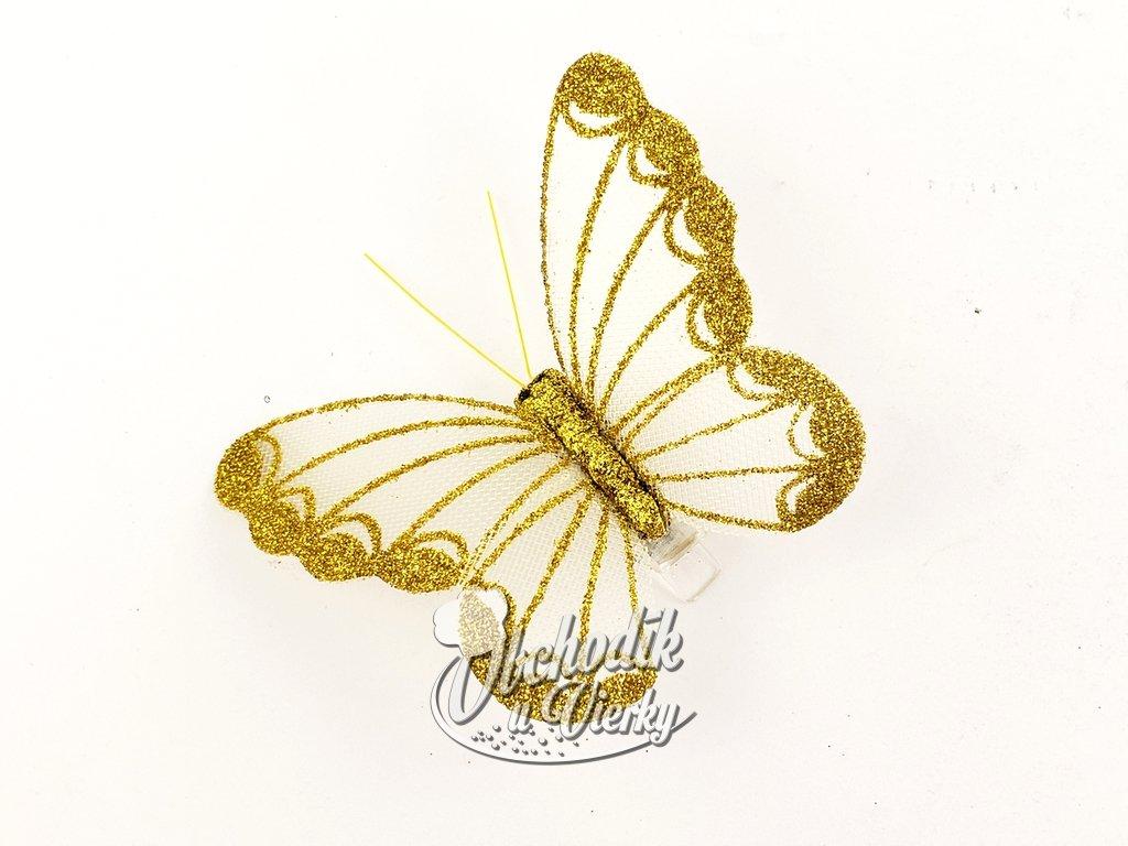 Dekoračný motýľ so sponou 1 ks