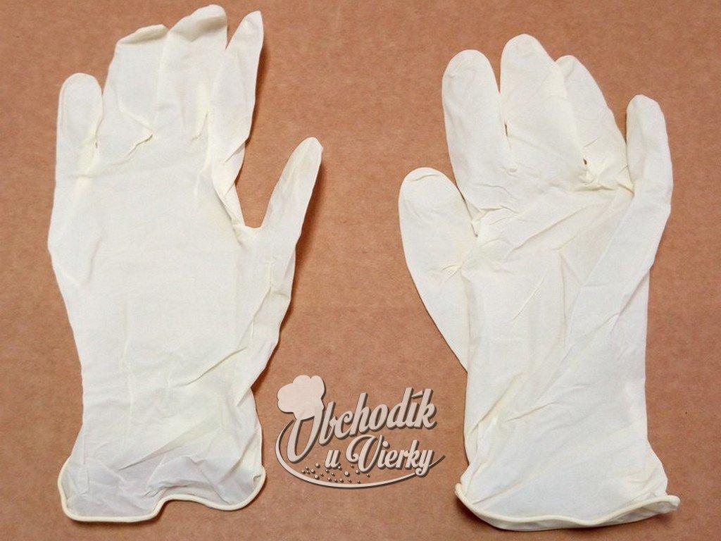 Jednorázové vinylové rukavice S