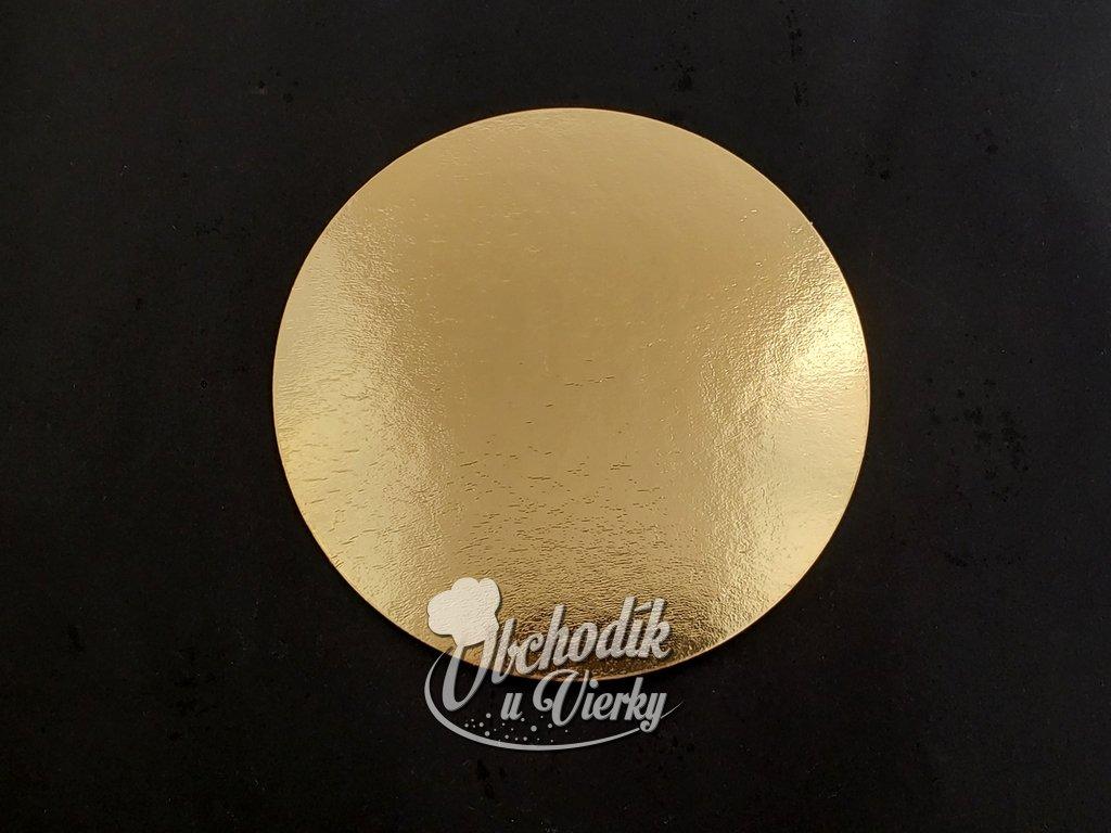 Podložka pod dezerty a mini torty papierová zlatá O 15,5 cm