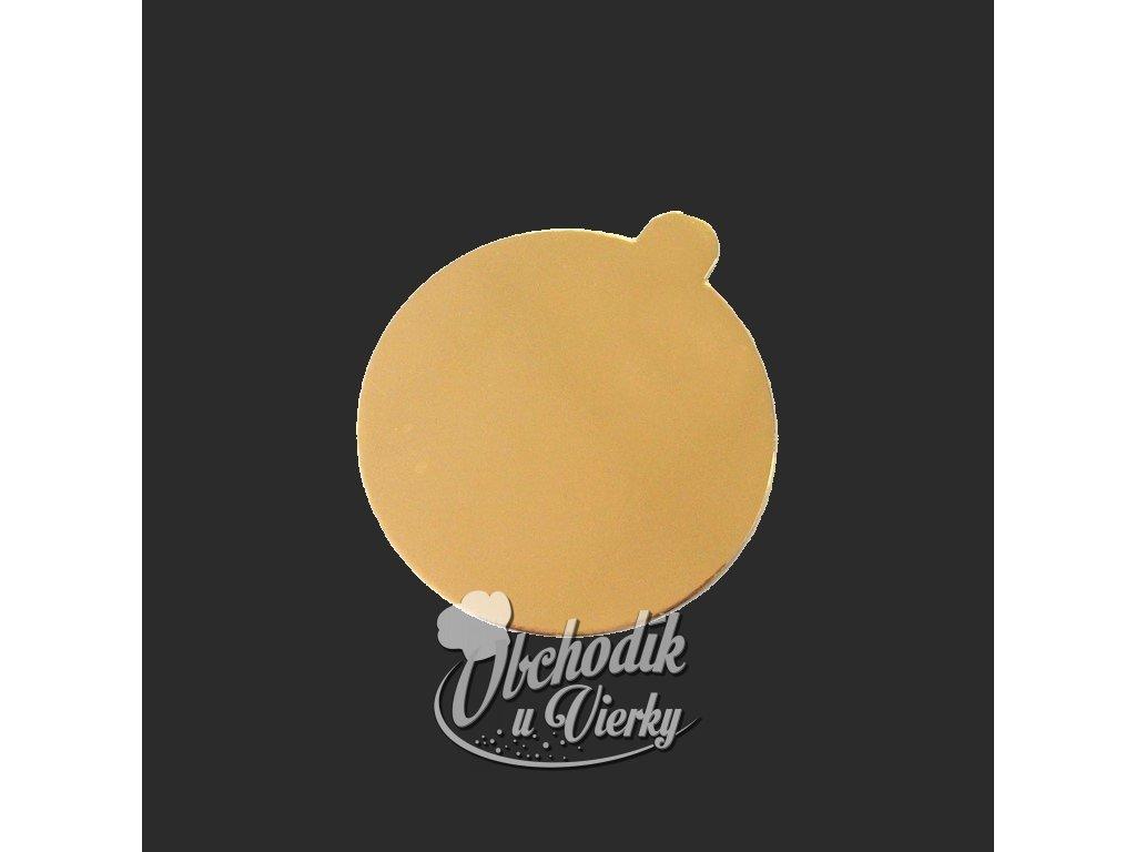 00779 Tortová podložka zlatá Ø 10 cm