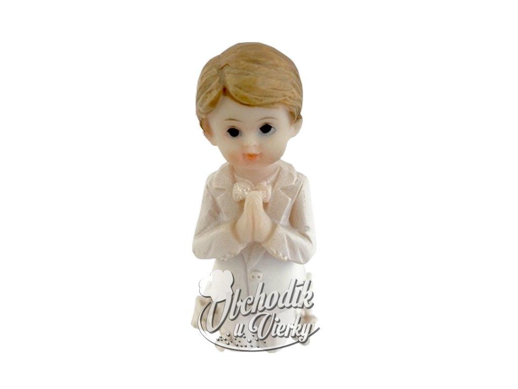 Figúrka sväté prijímanie chlapec kľačiaci malý