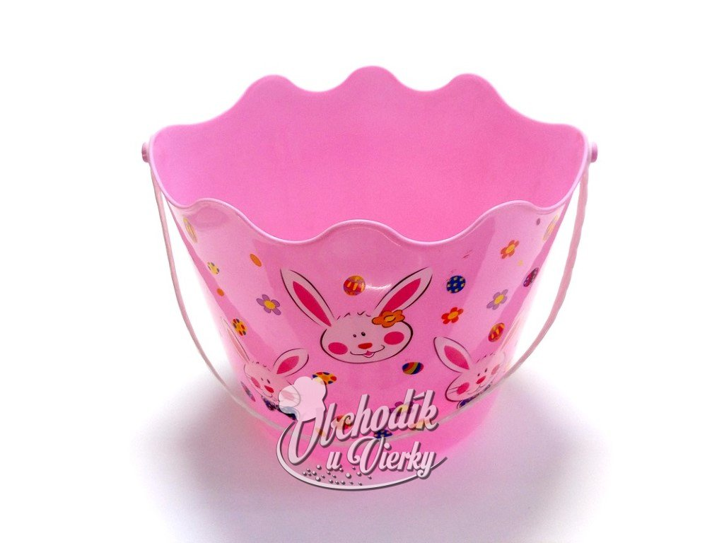 01571 Veľkonočný košíček pre kupačov plastový ružový