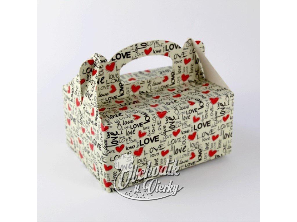 1 0024 Zákusková krabica LOVE s výstužou 19 x14 x 9 cm