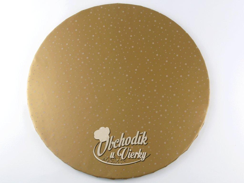 1 0026 Tortová ozdobná podložka Ø 40 cm zlatá
