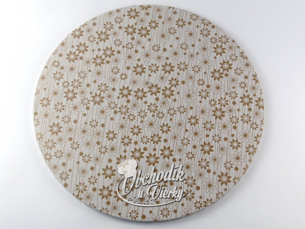 1 0027 Tortová ozdobná podložka Ø 40 cm biela