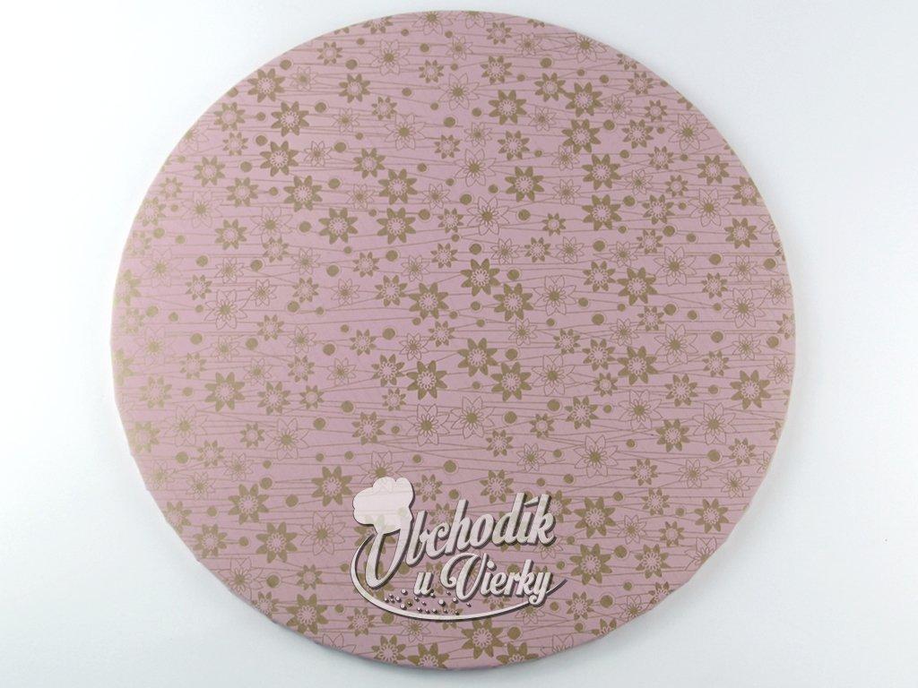1 0028 Tortová ozdobná podložka Ø 40 cm ružová