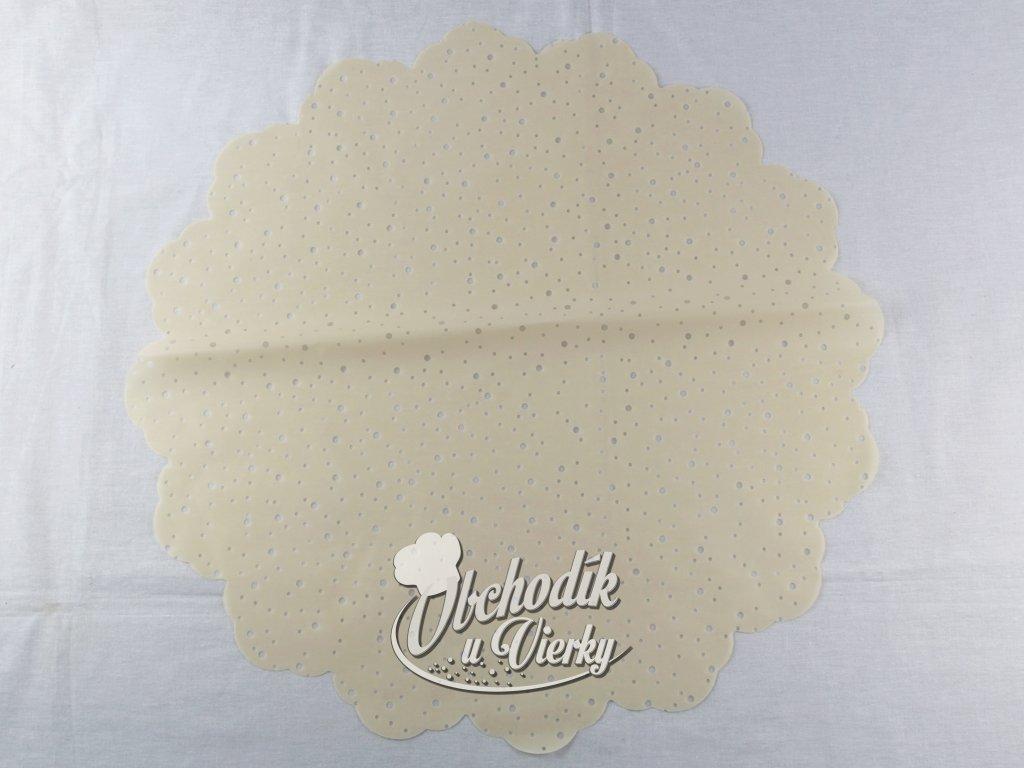 1 0034 Ozdobný papier pod tortu kruh Ø 50 cm krémový