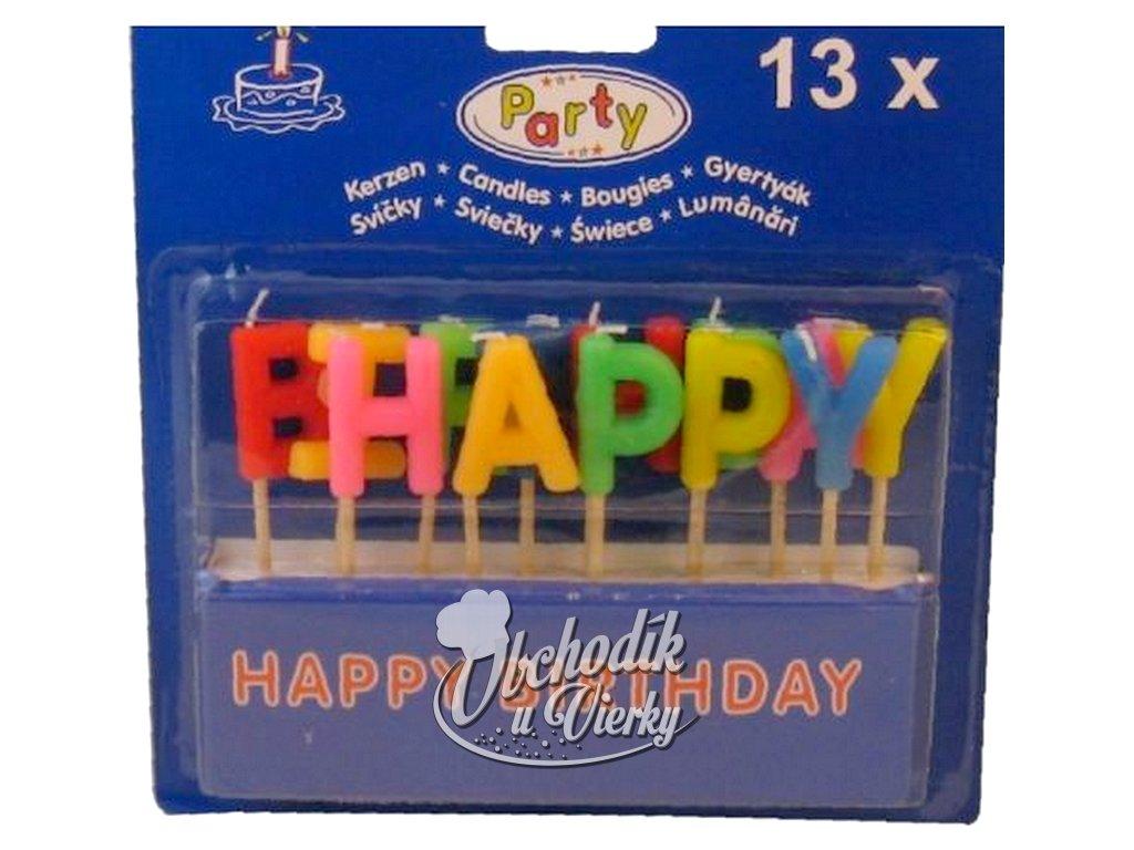 Sviecky HAPPY BIRTHDAY na špajdli 65mm