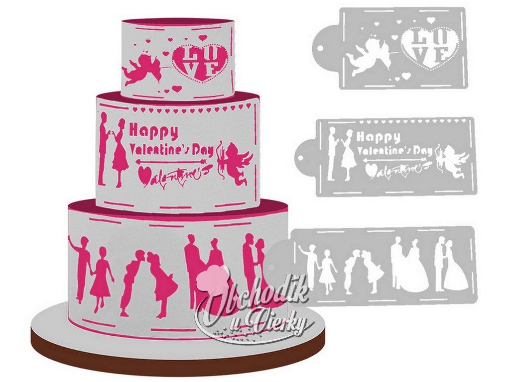 Šablóny s motívom svadba, láska, valentín, rodina 4 ks 2