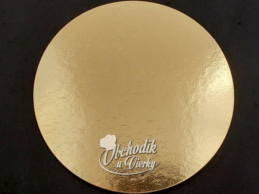 Podložka pod tortu kruhová zlatá tenká O 30 cm