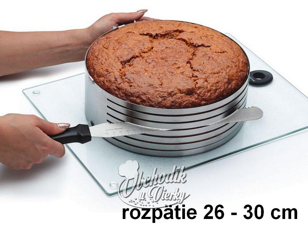 Okrúhla prekrajovacia forma na tortu nastaviteľná 24 30 cm 3