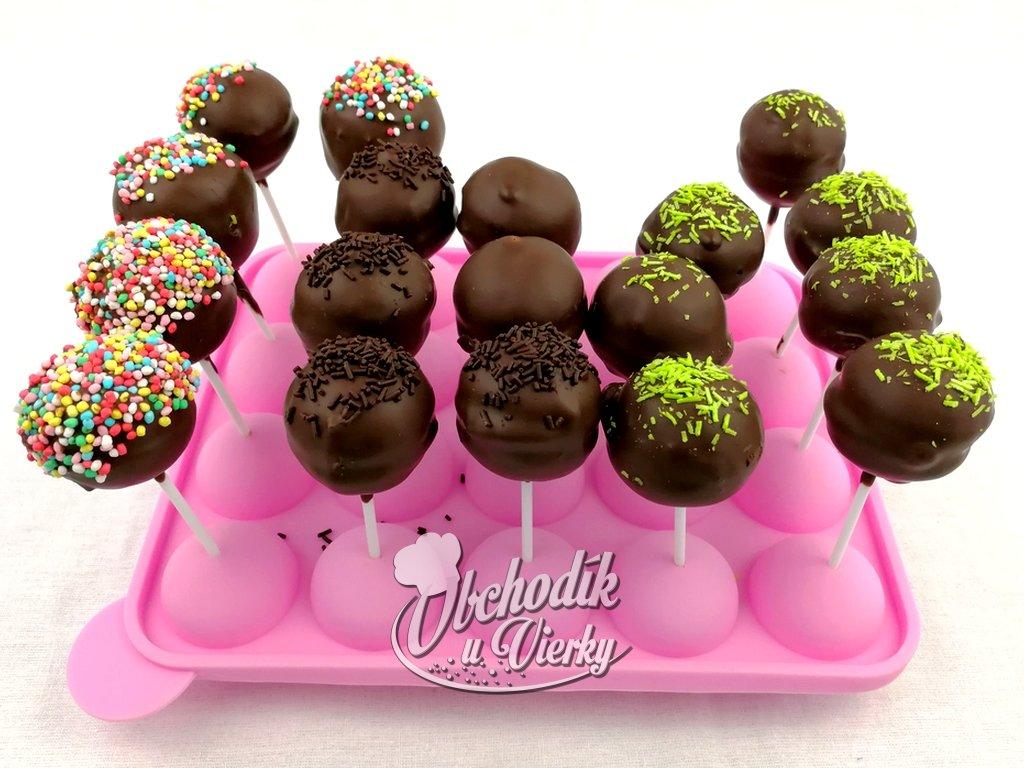 Bezlepkový Cake pop s cokoládovými šošovickami