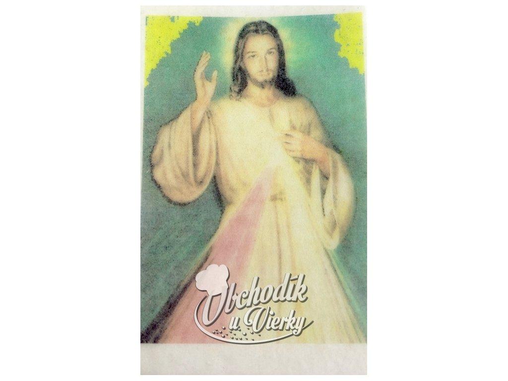 Jedlý obrázok Pán Ježiš 5 x 6,5 cm