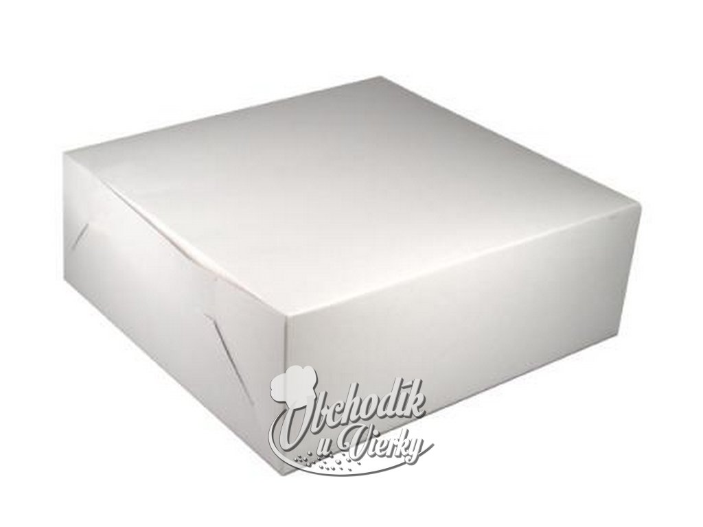 Tortová krabica biela tenká 28x28x10 cm