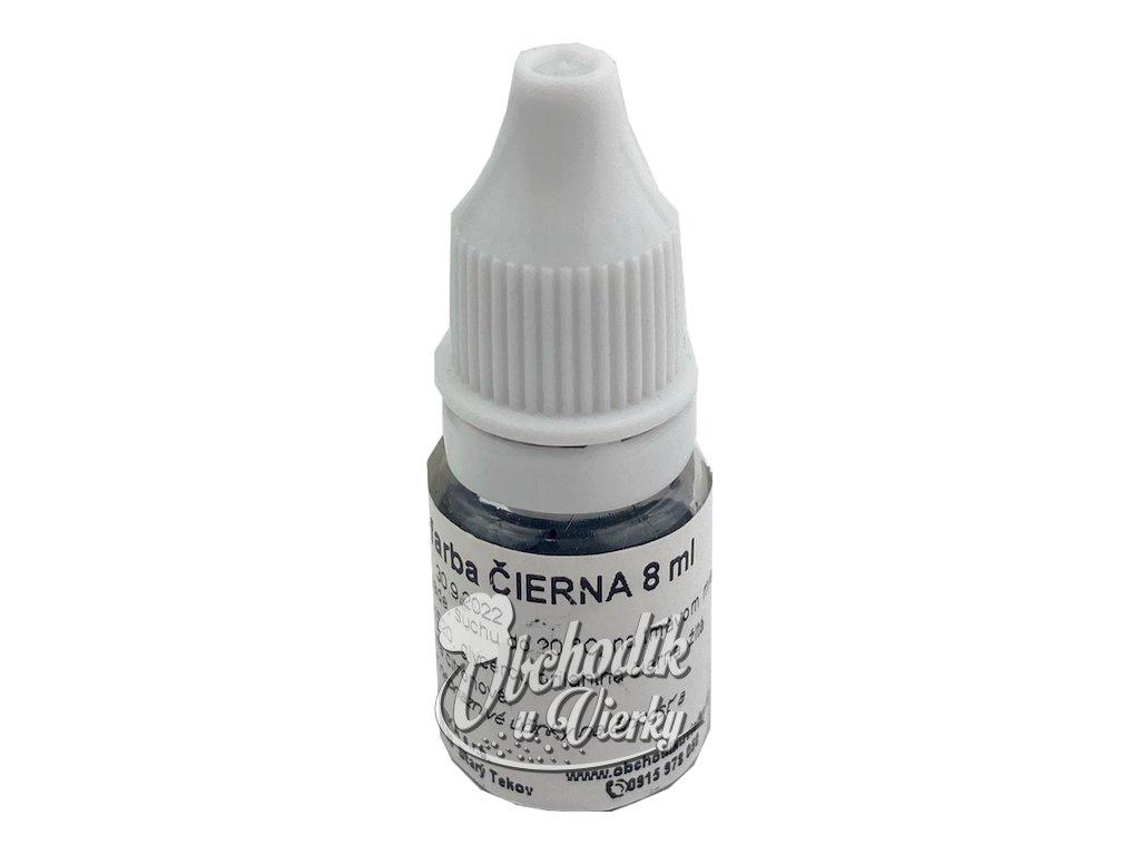 ČIERNA jedlá tekutá farba 8 ml HoHo
