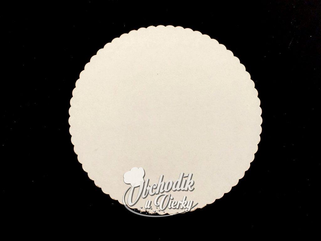 Podložka pod tortu kruhová biela tenká O 22 cm