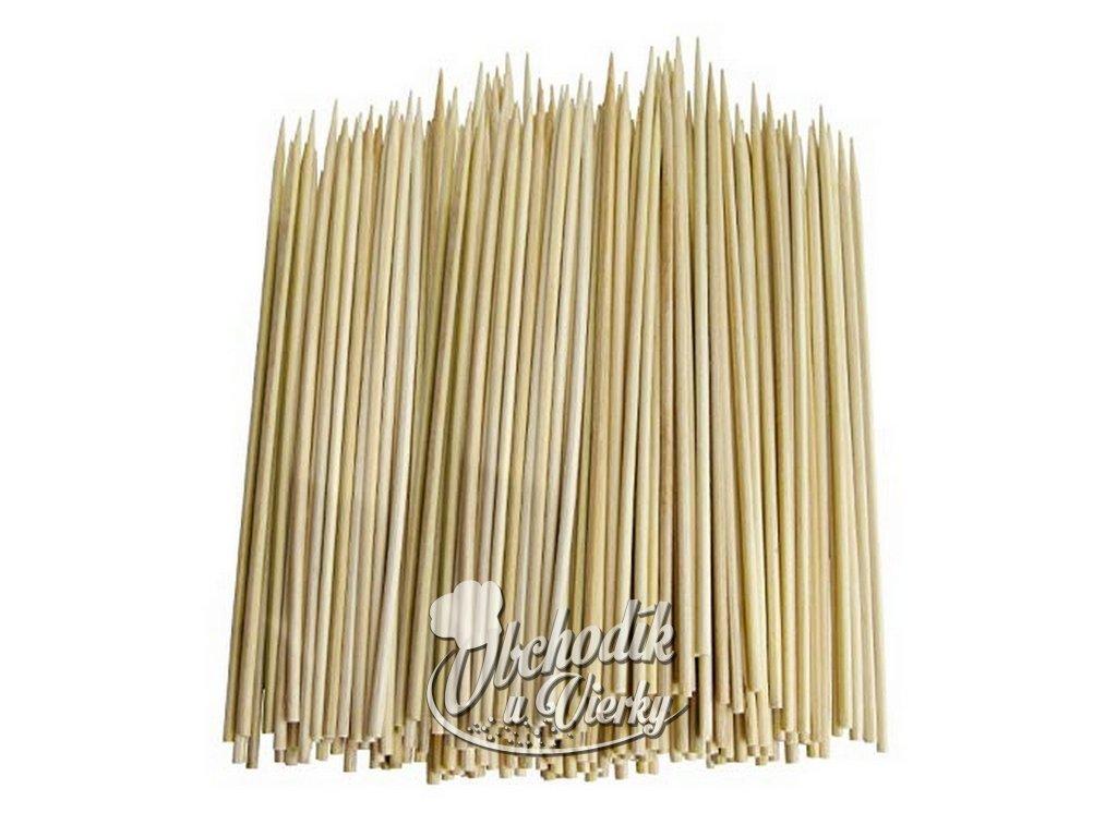 Bambusové špajdle ostré na ražniči 20 cm