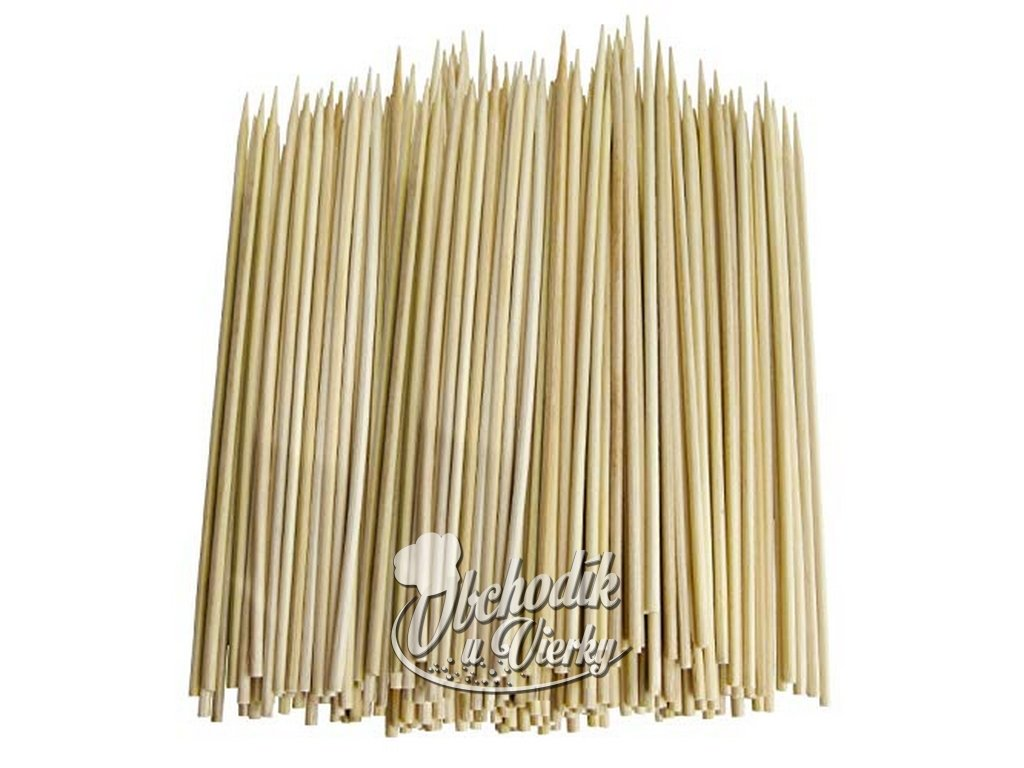 Bambusové špajdle ostré na ražniči 25 cm