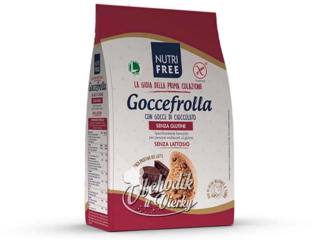 Bezlepkové sušienky s kúskami čokolády Gocciolotti NUTRI FREE 400g