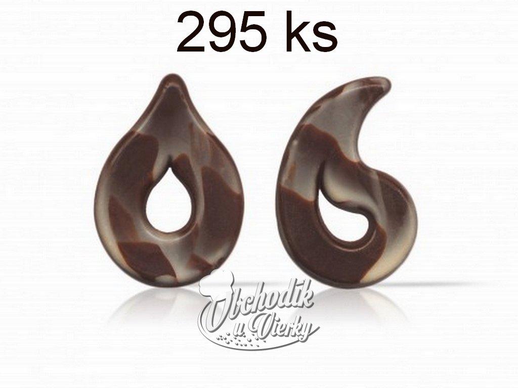 Čokoládová dekorácia KVAPKA 295 ks Puccini