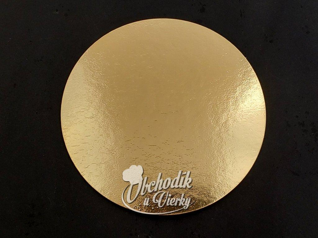 Podložka pod tortu kruhová zlatá tenká O 20 cm