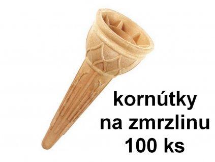 Kornútky na zmrzlinu klasické 100 ks HoHo