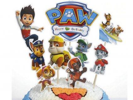 Paw Patrol 3 (veľká sada) zapichovátka 9 ks