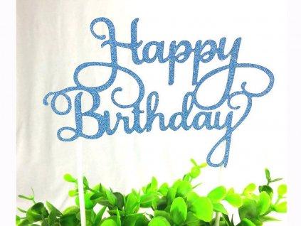 Zapichovač Happy Birthday modrý